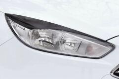 Накладки на передние фары (реснички) Ford Focus III 2014- (рестайлинг)