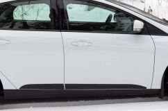 Молдинги на двери Ford Focus III 2014- (рестайлинг) ШАГРЕНЬ