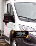 Накладки на боковые зеркала Citroen Jumper Шасси 2006-н.в.