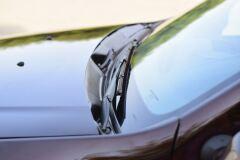 Накладка в проём стеклоочистителей (ЖАБО БЕЗ СКОТЧА, ABS) Renault Duster с 2012/ Nissan Terrano c 2014