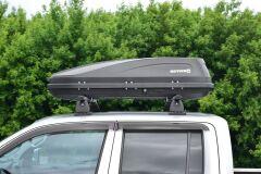 Автобокс на крышу ACTIVE S (320 л) Аэродинамический с двусторонним открыванием на крышу автомобиля