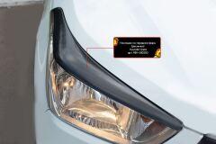 Накладки на передние фары (реснички) Hyundai Creta 2016+