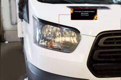 Накладки на передние фары (реснички) Ford Transit 2014-