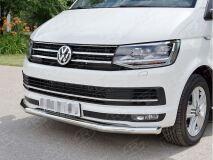 Защита переднего бампера D63 секция для Volkswagen Multivan Caravella Transporter T6 2016 (короткая база)