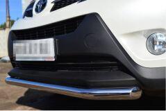 Защита переднего бампера D63 (секции) для Toyota Rav4 2013-2015