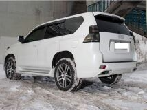 Бампер задний в стиле ELFORD для Land Cruiser Prado J150 (2009-2013) (НЕ укомплектован насадками)