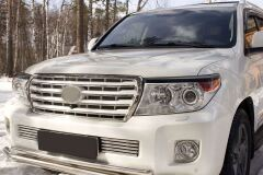 Накладки на фары (реснички) для Toyota Land Cruiser 200 (2012-2015)