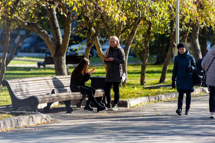 Фото Подарок октября: новосибирцы вышли шуршать листьями в последний тёплый день осени 14