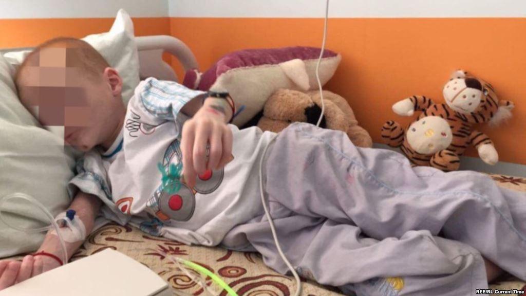 Валерий Кандауров при поступлении в больницу скрин currenttime.tv