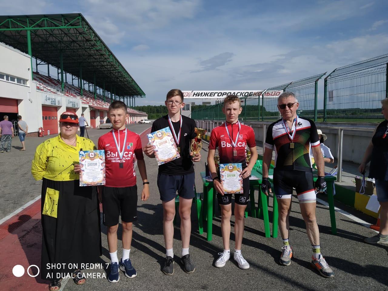 Велосипедисты из Выксы достойно выступили на соревнованиях