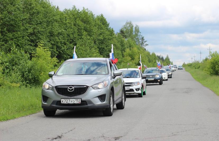 Авто-мото пробегом отметили День России в Выксе
