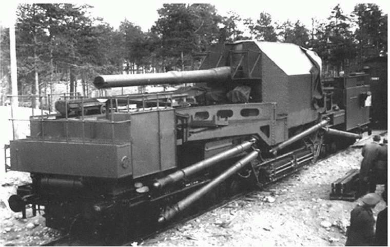 батарея номер шесть 356 мм пушек на жд транспортерах тм 1 14