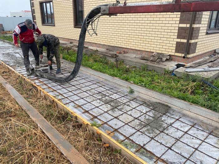 Изображение №749 - Заливка небольшого участка бетоном