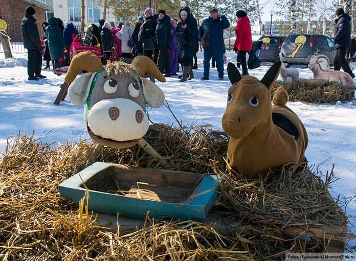 Масленица в Белово, Центральный парк, 14 марта 2021 г