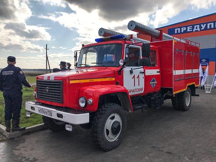 Открытие нового здания пожарной части №11 в поселке Бачатский, 2 октября 2020 г, Сергей Цивилев